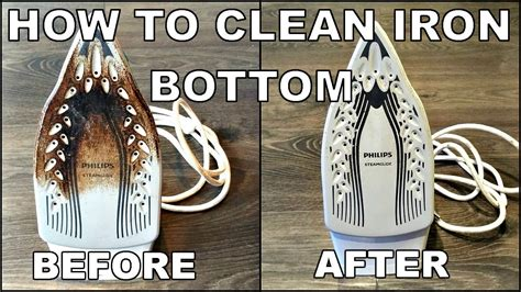how to clean iron bottom easy youtube