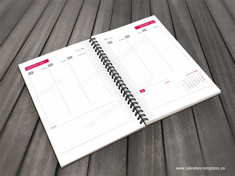 Daily Planner Template In Pdf And Indesign Format For 2019 Year 2019 Planner Template