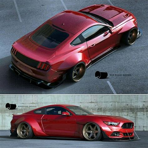widebody mustang rendered extremely wide 2015 mustang amcarguide com