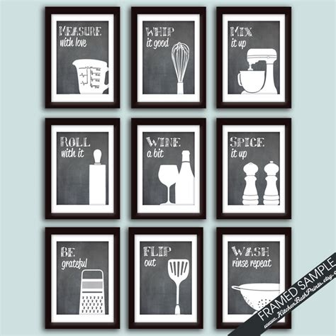 kitchen wall art funny mix it up just roll with it by funny kitchen art print set set of 9 art prints featured