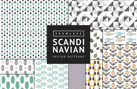 nordic pattern illustrator seamless scandinavian vector patterns medialoot