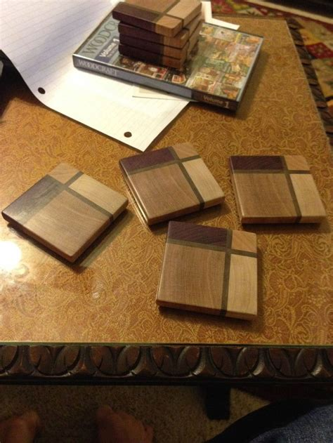 wooden coasters ideas  pinterest wooden