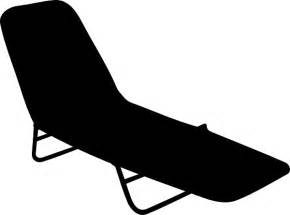 Pool chair silhouette clip art at clker com vector clip art online