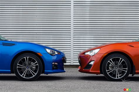subaru brz vs scion frs vs toyota gt86 three brands one car