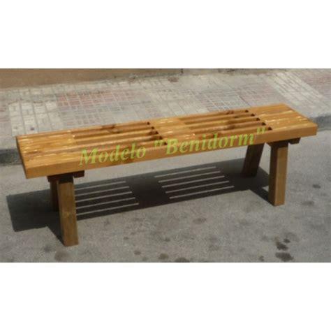 banco jardn madera tecamod marlboro barato banco jard 205 n sin respaldo de madera tratada para