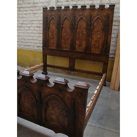 gothic style headboards hand painted finish carved ornate gothic medieval style