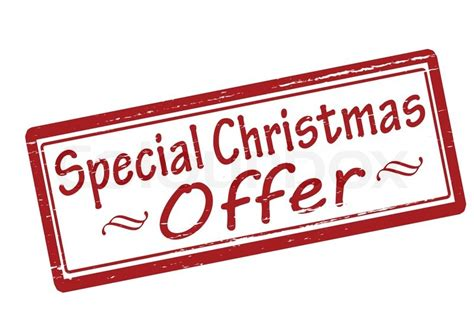 christmas special offers rubber st with text special offer inside vector illustration stock vector