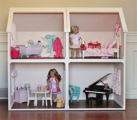 american dolls houses doll house plans for american girl or 18 inch dolls one room