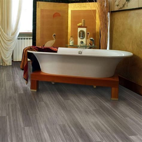 home depot bathroom flooring ideas trafficmaster plus 5 in x 36 in grey maple luxury vinyl plank flooring 22 5 sq ft