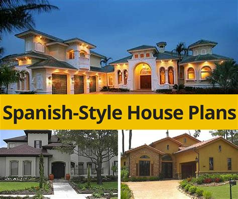Two Story House Designs Spanish House Plans Capture The Essence Of The Mediterranean