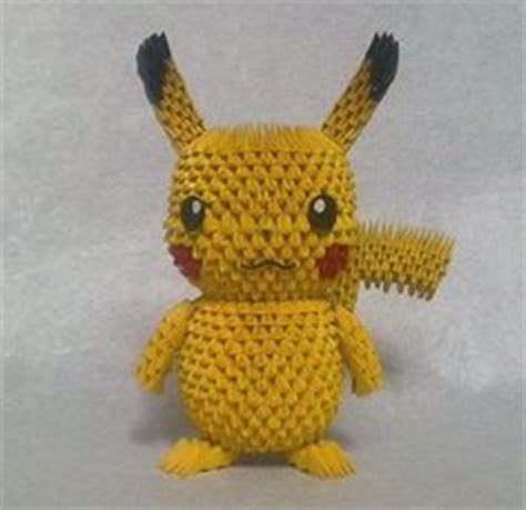 3d Pikachu Origami - 3d origami d on 3d origami origami and 3d