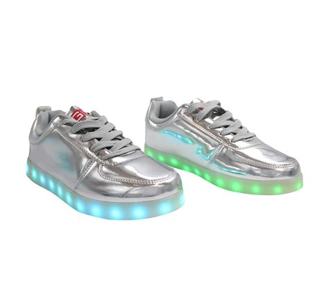 Shoes Glossy Led galaxy led shoes light up usb charging low top sneakers silver glossy fusion galaxy shoes