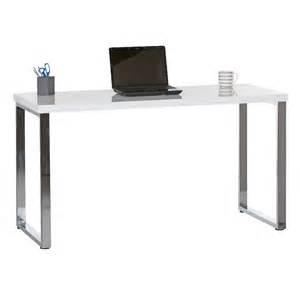 Officeworks Desks Contour Loop Leg Desk White And Chrome Ebay