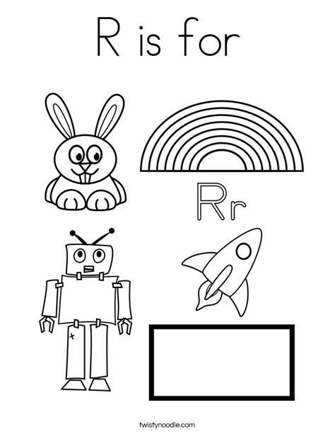 R Is For Rainbow Coloring Page by R Is For Rainbow Coloring Page