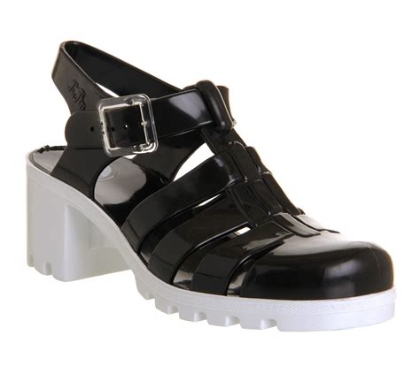 Jelly Shoes Sale 10 juju hi jelly shoes black white sandals