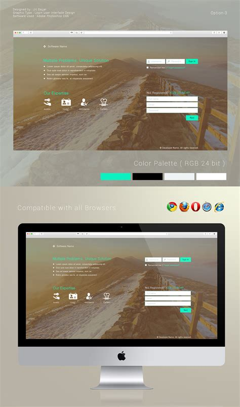 ui layout options login user interface design options on behance