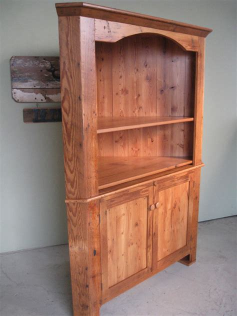 large reclaimed wood corner cabinet farmhouse boston