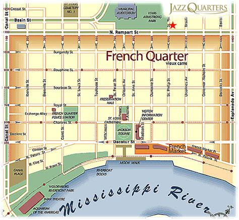 printable french quarter new orleans maps french quarter map with attractions french quarter map