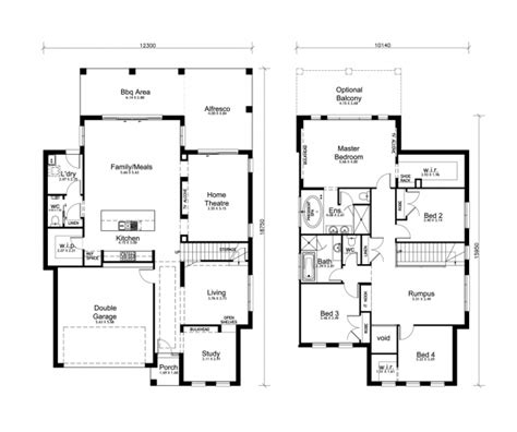 storey residential floor plan house floor plans