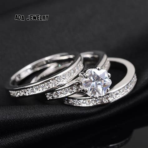 3 Circles High Quality Eternal Flower CZ Diamond Ring
