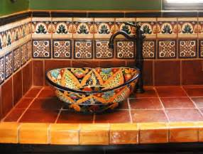 mexican tile kitchen ideas mexican tile mediterranean bathroom by clay imports
