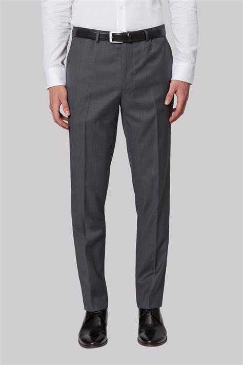 Plain Slim Fit connection slim fit plain grey trousers