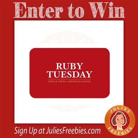 Ruby Tuesday Gift Card Special - daily entry archives page 46 of 94 julie s freebies