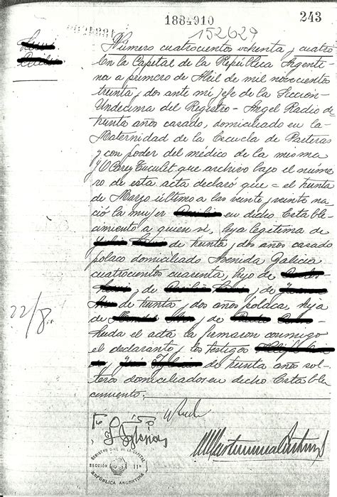 Birth Records Arkansas Documents 171 Trace Your Family In Argentina