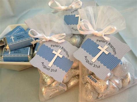 Christening Giveaways - easy baptism favor idea kisses from the guest of honor big dot of happiness