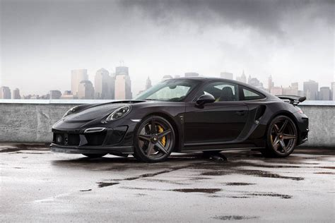 black porsche 911 turbo topcar reveals black porsche 911 stinger gtr gtspirit