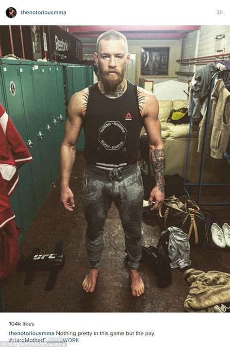 Online Resume Posting by Conor Mcgregor Looks Mean After Gruelling Training Session