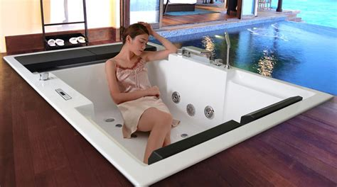 vasca a incasso vasca idromassaggio a incasso a pavimento con effetto sfioro