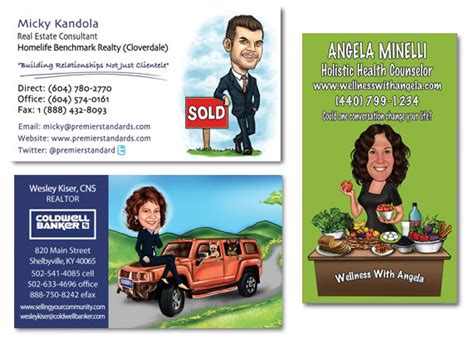 Caricature Business Card Templates by Business Cards With Photographs Choice Image Card Design