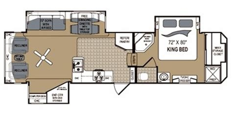thor fifth wheel floor plans trailers fifth wheel trailers thor grand junction