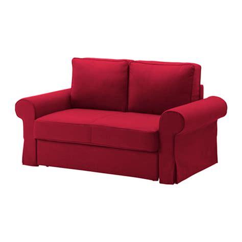 red ikea sofa backabro two seat sofa bed nordvalla red ikea