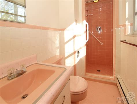 vintage pink bathroom warm and beautiful 1962 mid century modern brick ranch