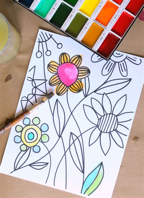 watercolor coloring book for adults awesome new coloring pages for adults craftwhack
