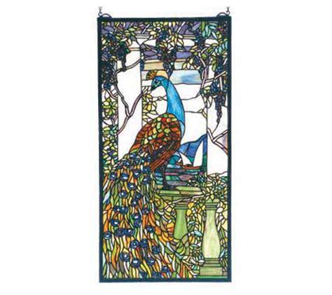 tiffany inspired ls qvc tiffany style tiffany peacock window panel qvc com
