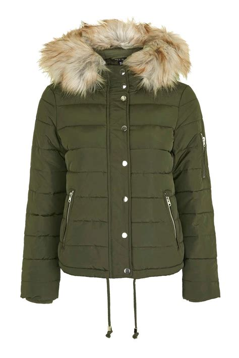 Shoo Coat quilted puffer jacket topshop