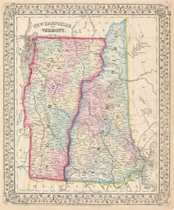map of vermont and canada new hshire and vermont geographicus antique maps