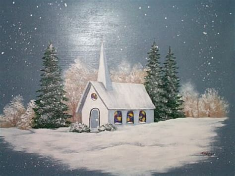 Decorating A Dining Room Buffet church in the snow