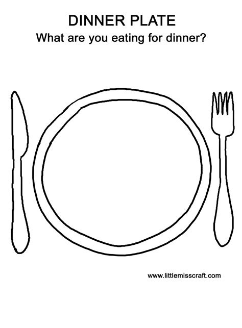 Plate Coloring Page Free Food Plate Coloring Pages by Plate Coloring Page