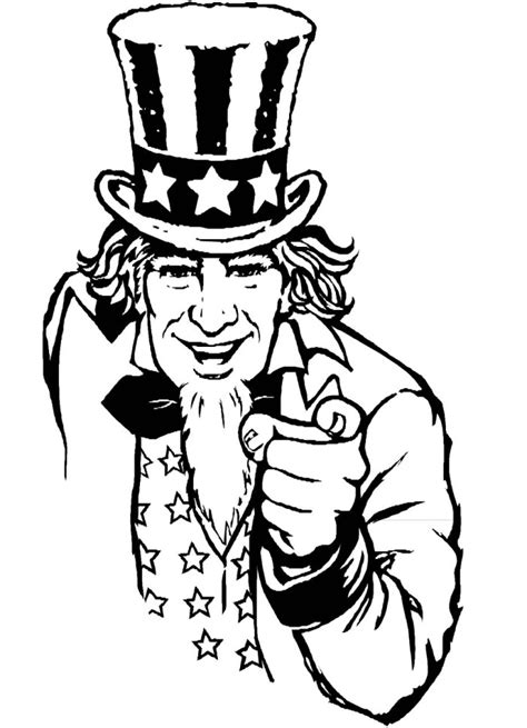 coloring page uncle sam uncle sam coloring page az coloring pages