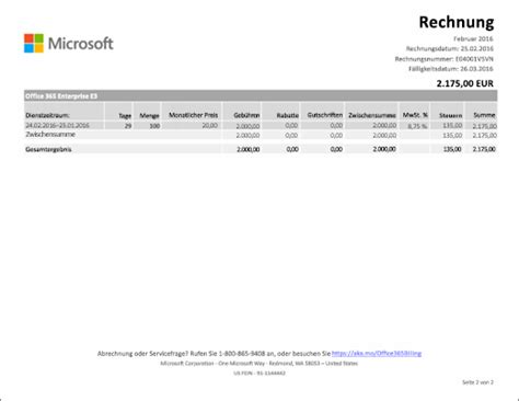 Vorlage Rechnung Charge Grundlegendes Zu Ihrer Rechnung F 252 R Office 365 Business Office 365