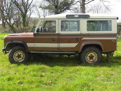 land rover brown landrover defender 1983 land rover 110 v8 sw p brown