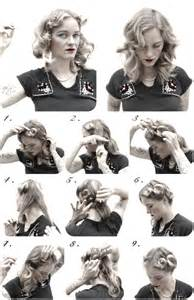 1940s womens hairstyle tutorials how to hair girl easy 1940 s pin curl set