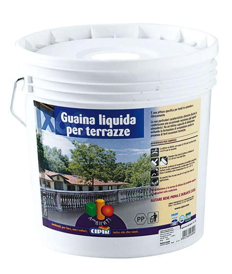 guaina calpestabile per terrazzi guaina liquida cipir 5 lt ideale per cemento e