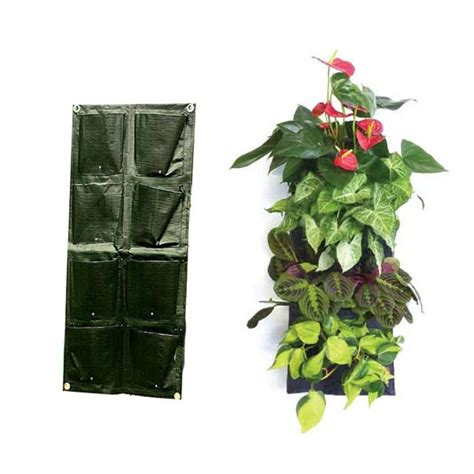 Garden Wall Planters Plastic by Aliexpress Buy 8 Pocket Vertical Garden Planter