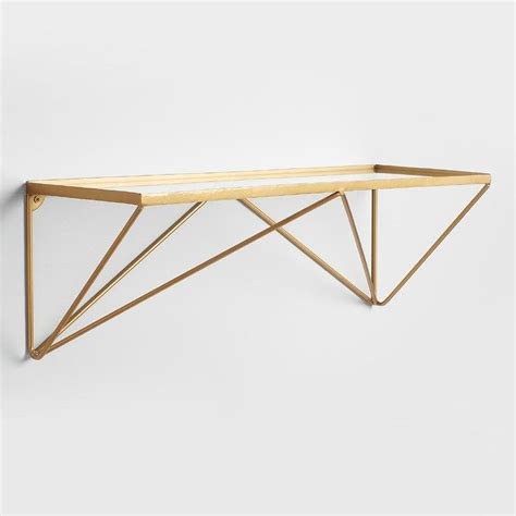Gold Shelf by Adler Gold Prism Glass Wall Shelf