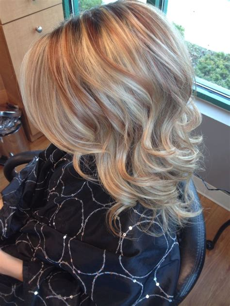 blonde and copper hairstyles copper hair with blonde highlights hairstylegalleries of